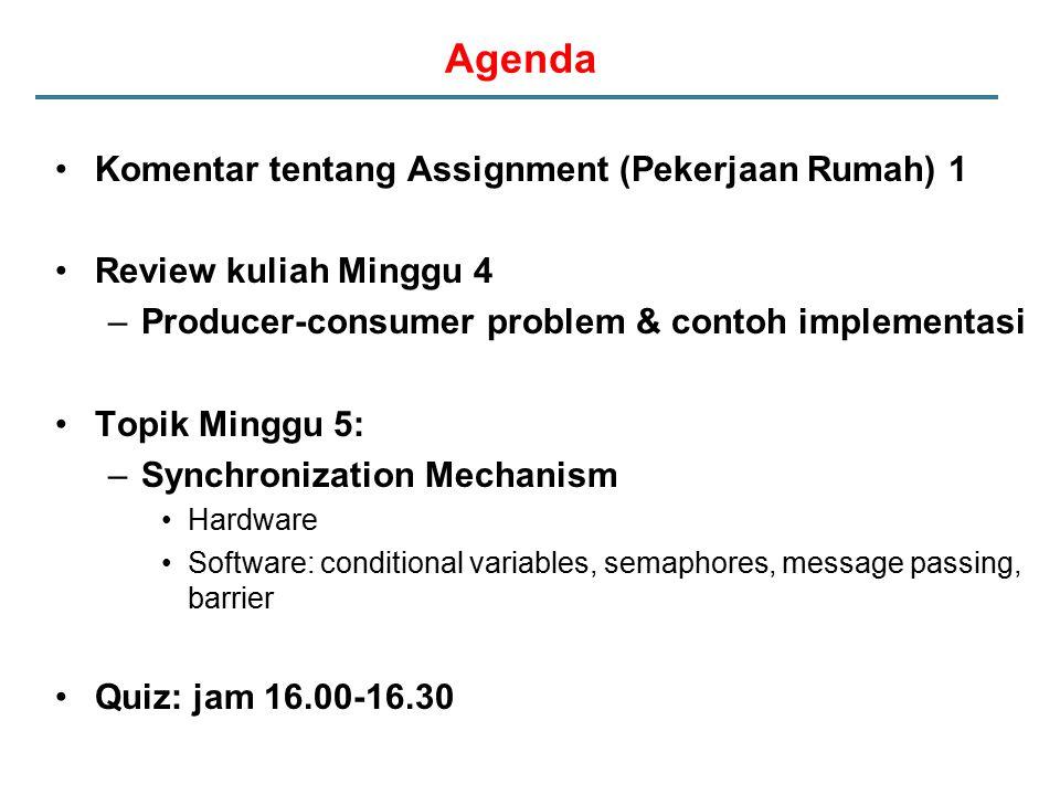 Agenda Komentar tentang Assignment (Pekerjaan Rumah) 1