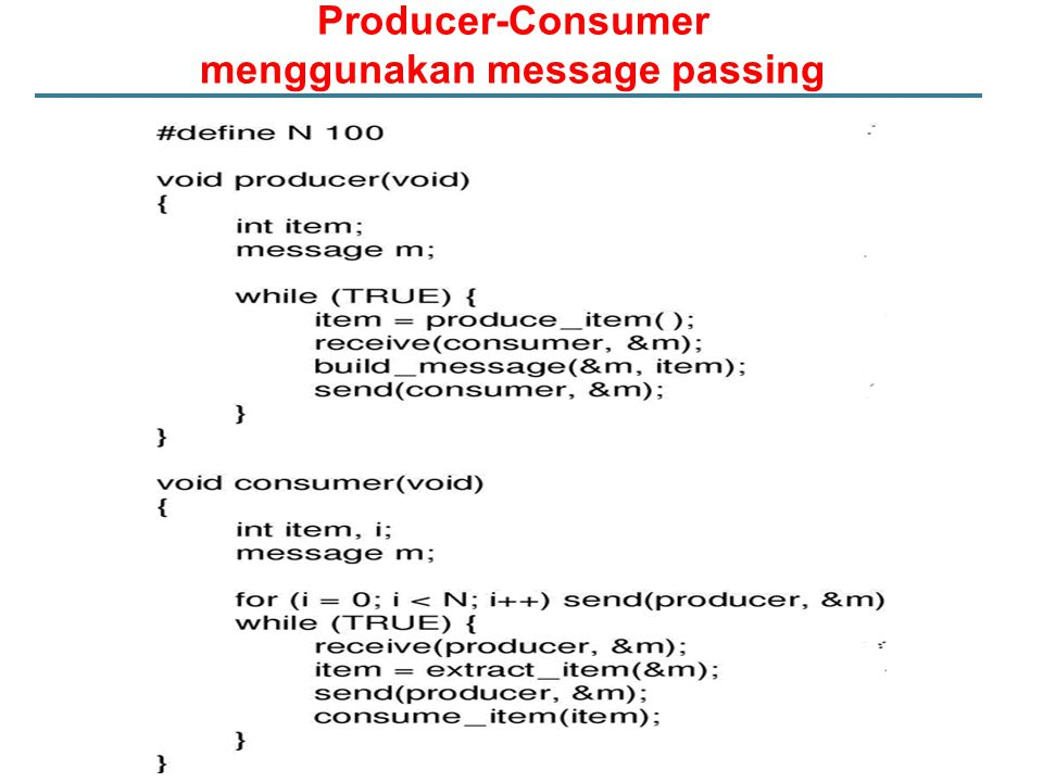 Producer-Consumer menggunakan message passing