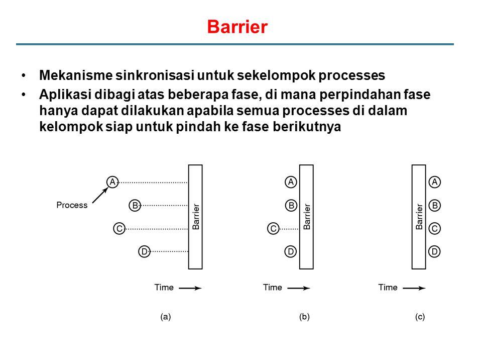 Barrier Mekanisme sinkronisasi untuk sekelompok processes