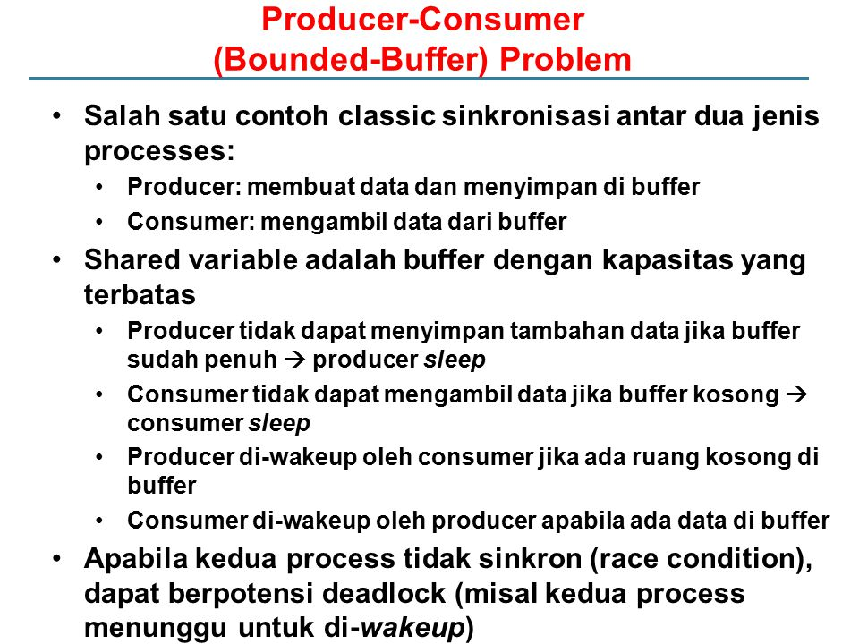Producer-Consumer (Bounded-Buffer) Problem