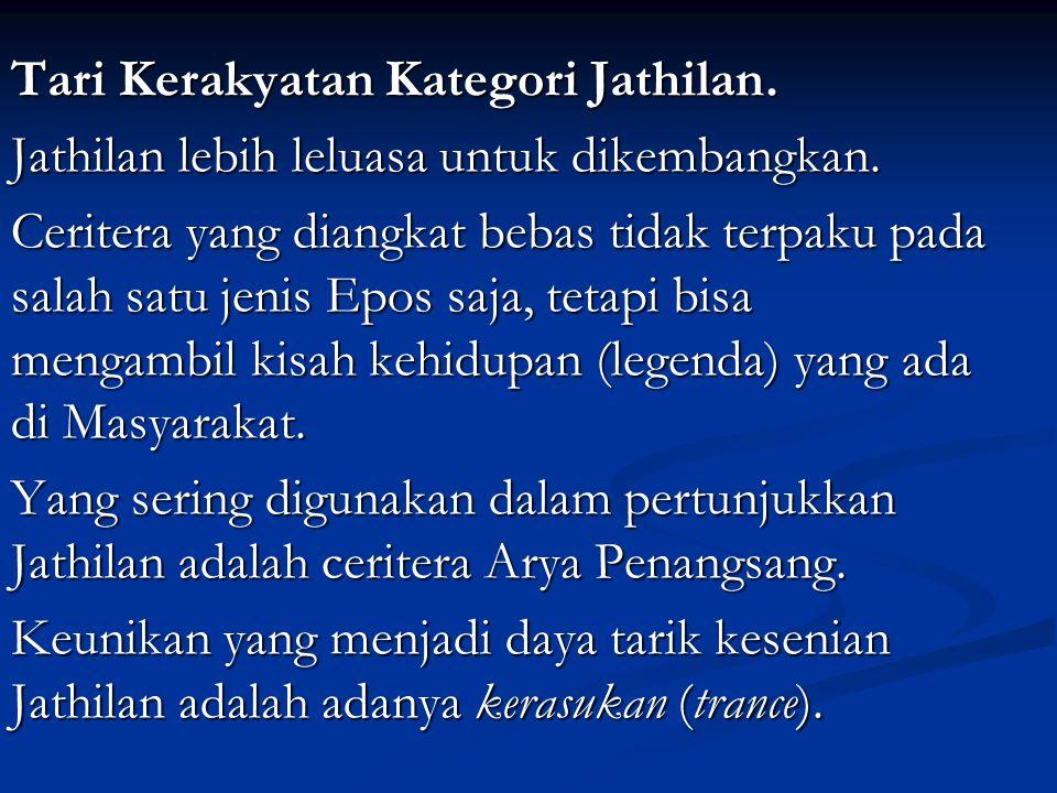 Tari Kerakyatan Kategori Jathilan.