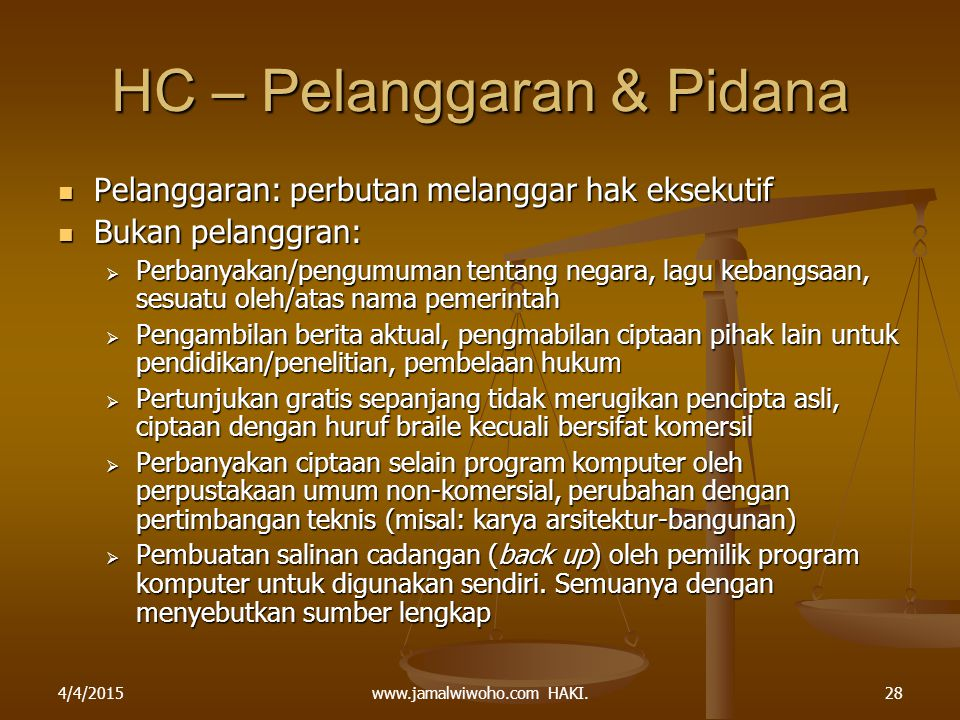 HC – Pelanggaran & Pidana