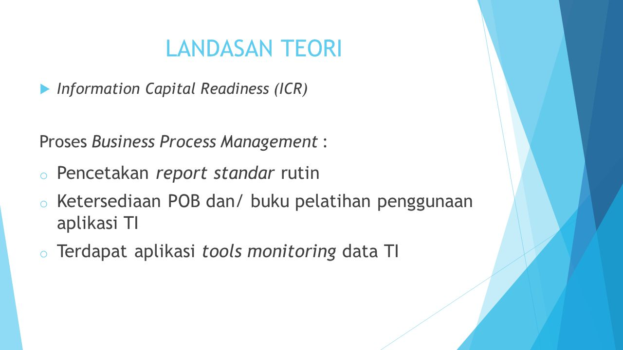 LANDASAN TEORI Pencetakan report standar rutin