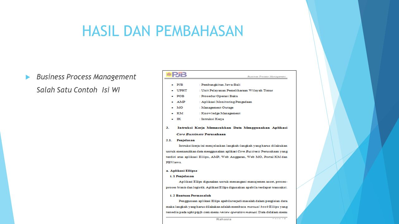 HASIL DAN PEMBAHASAN Business Process Management