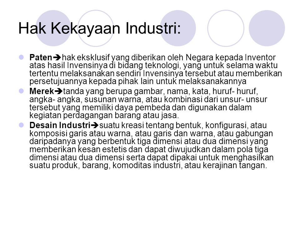 Hak Kekayaan Industri: