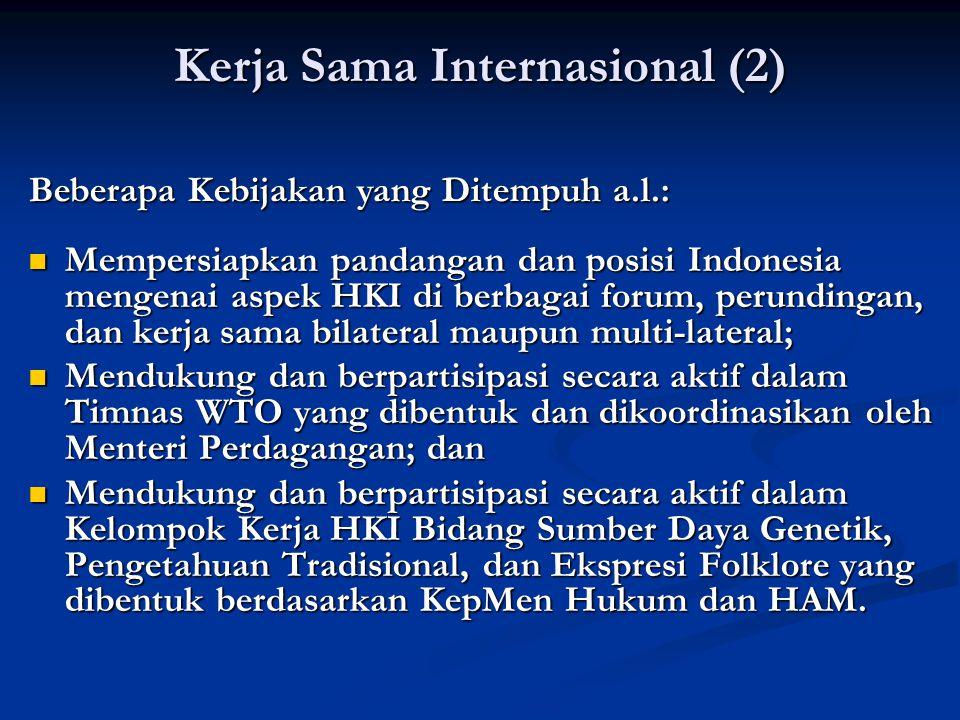 Kerja Sama Internasional (2)