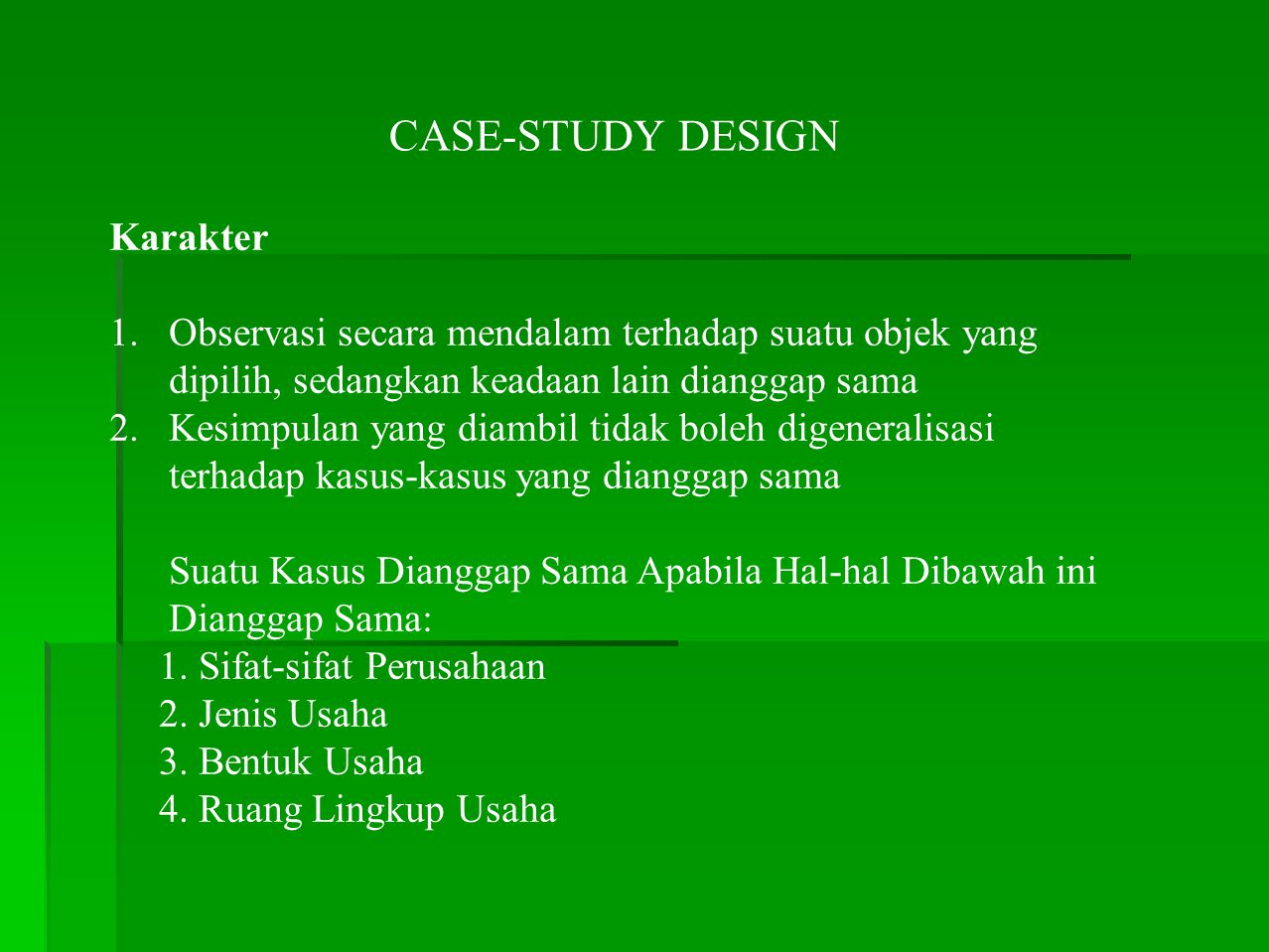 CASE-STUDY DESIGN Karakter