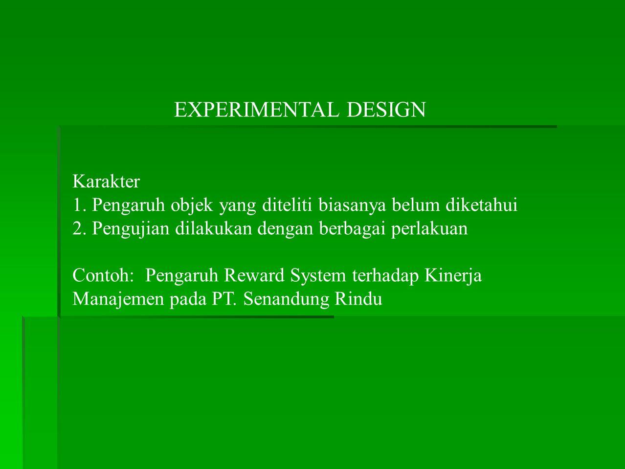 EXPERIMENTAL DESIGN Karakter