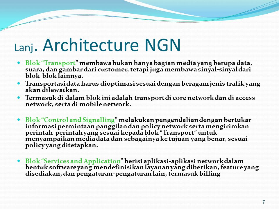 Lanj. Architecture NGN