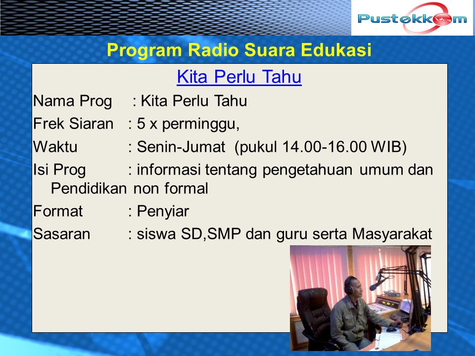 Program Radio Suara Edukasi