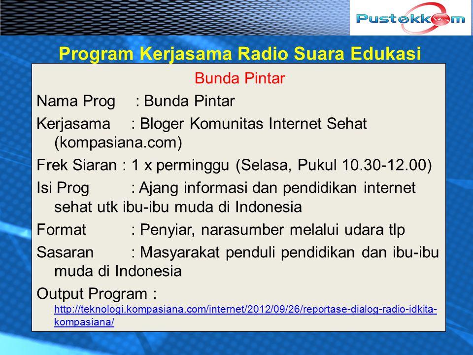 Program Kerjasama Radio Suara Edukasi
