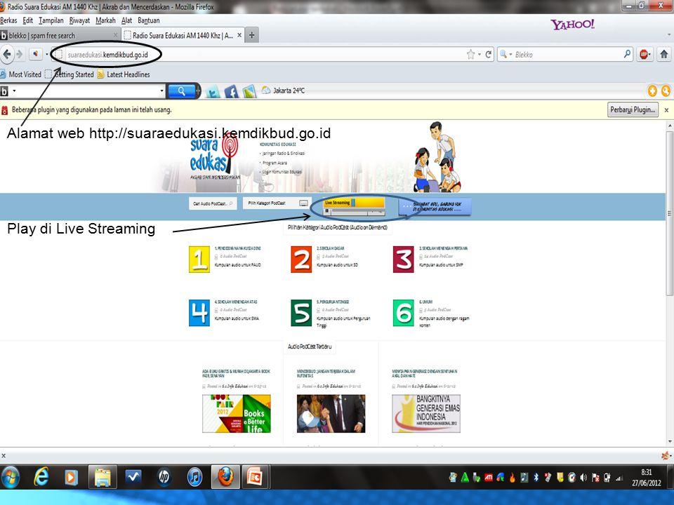 Alamat web http://suaraedukasi.kemdikbud.go.id
