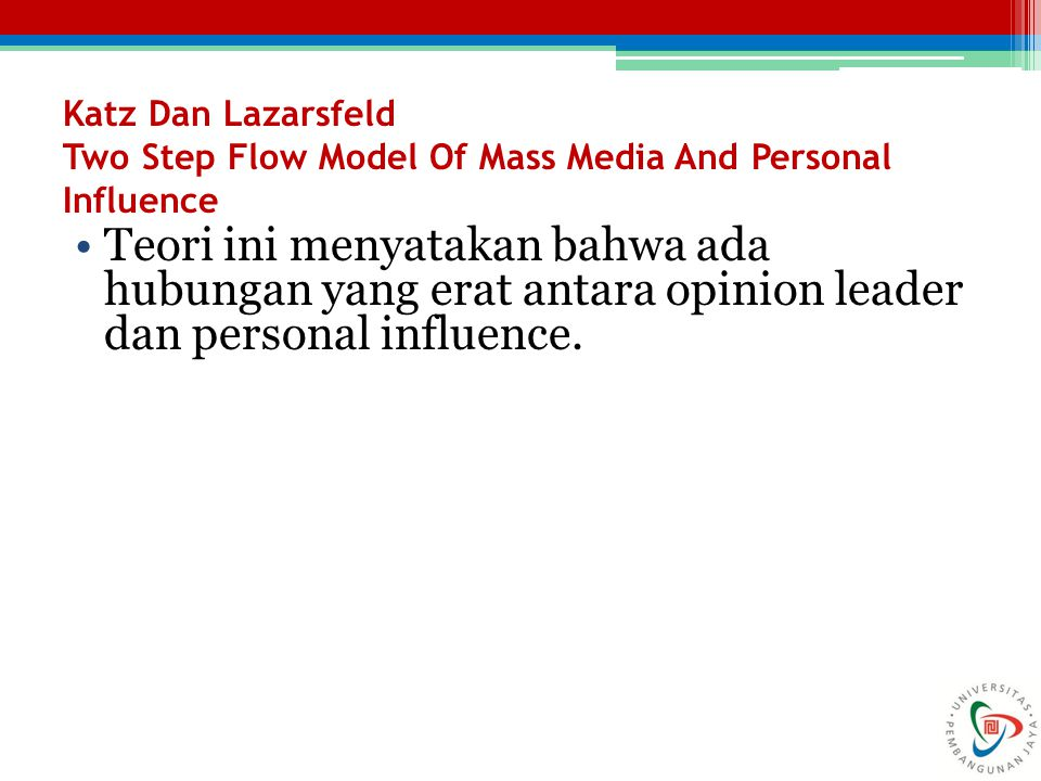 Katz Dan Lazarsfeld Two Step Flow Model Of Mass Media And Personal Influence