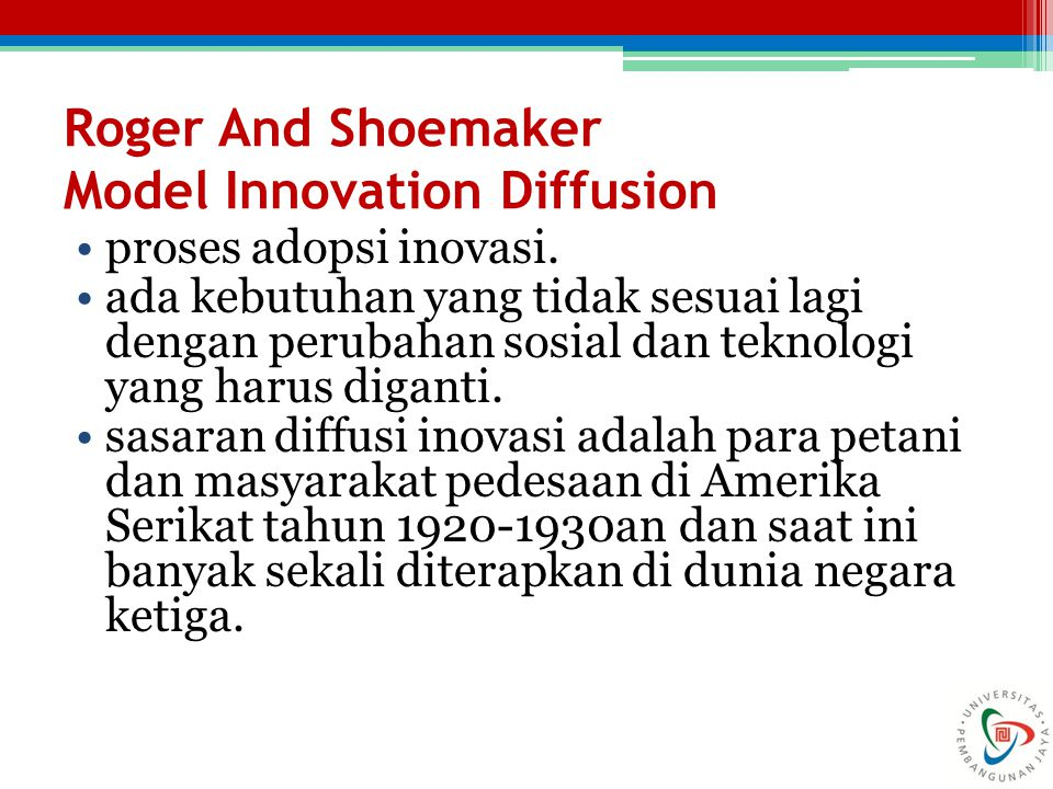 Roger And Shoemaker Model Innovation Diffusion