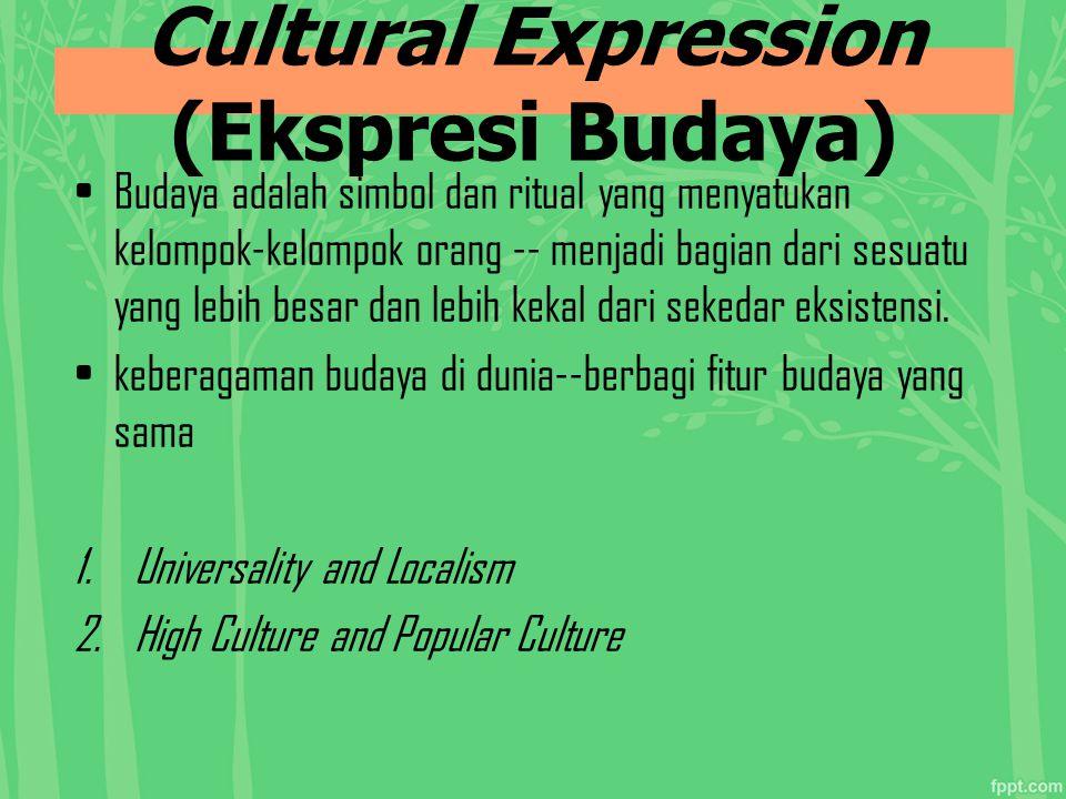 Cultural Expression (Ekspresi Budaya)