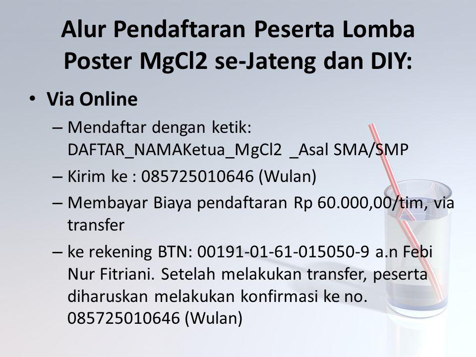 Alur Pendaftaran Peserta Lomba Poster MgCl2 se-Jateng dan DIY: