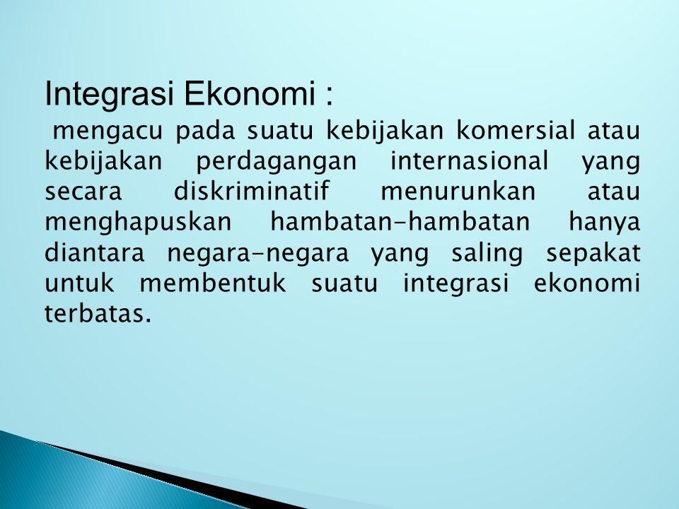 Integrasi Ekonomi :