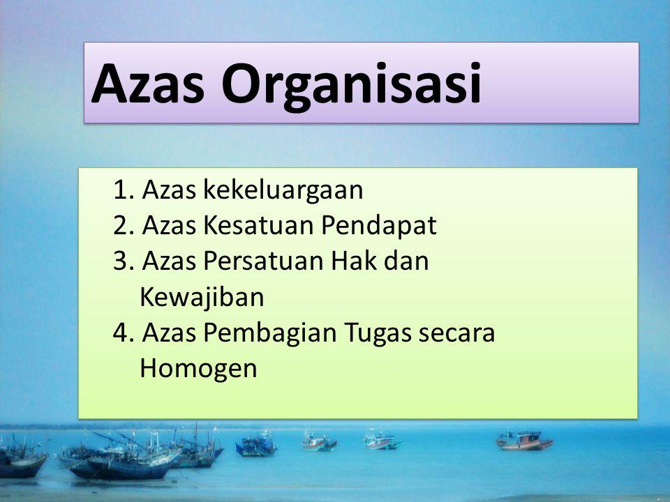 Azas Organisasi