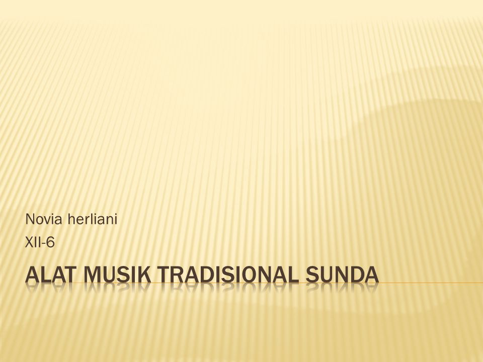 Alat musik tradisional sunda