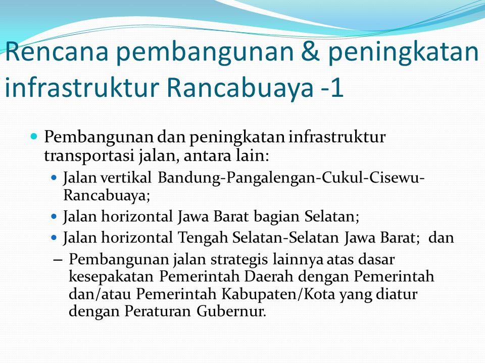 Rencana pembangunan & peningkatan infrastruktur Rancabuaya -1