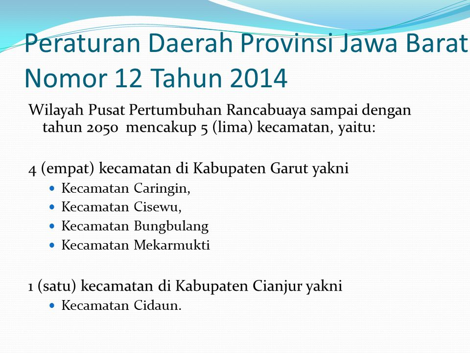 Peraturan Daerah Provinsi Jawa Barat Nomor 12 Tahun 2014