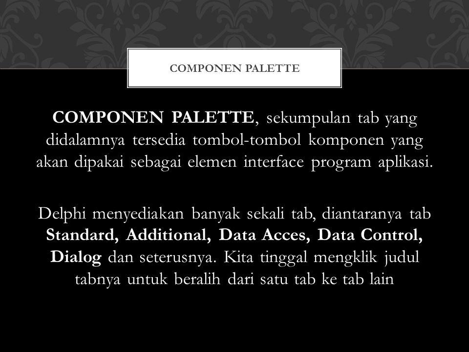Componen palette