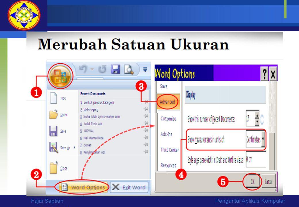 Fajar Septian Pengantar Aplikasi Komputer