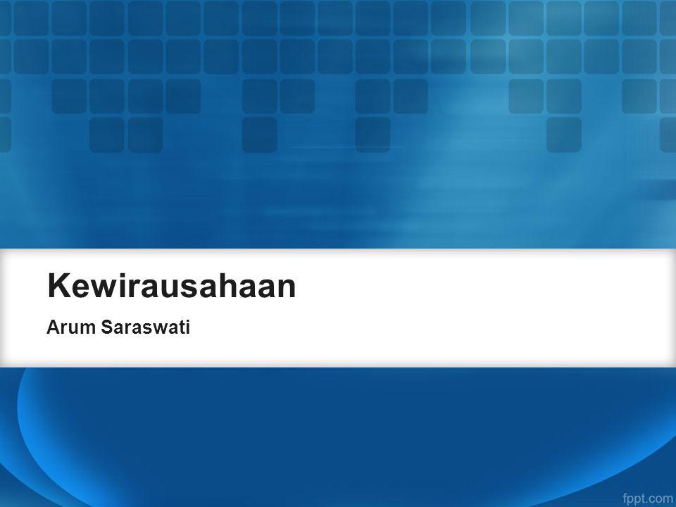 Kewirausahaan Arum Saraswati