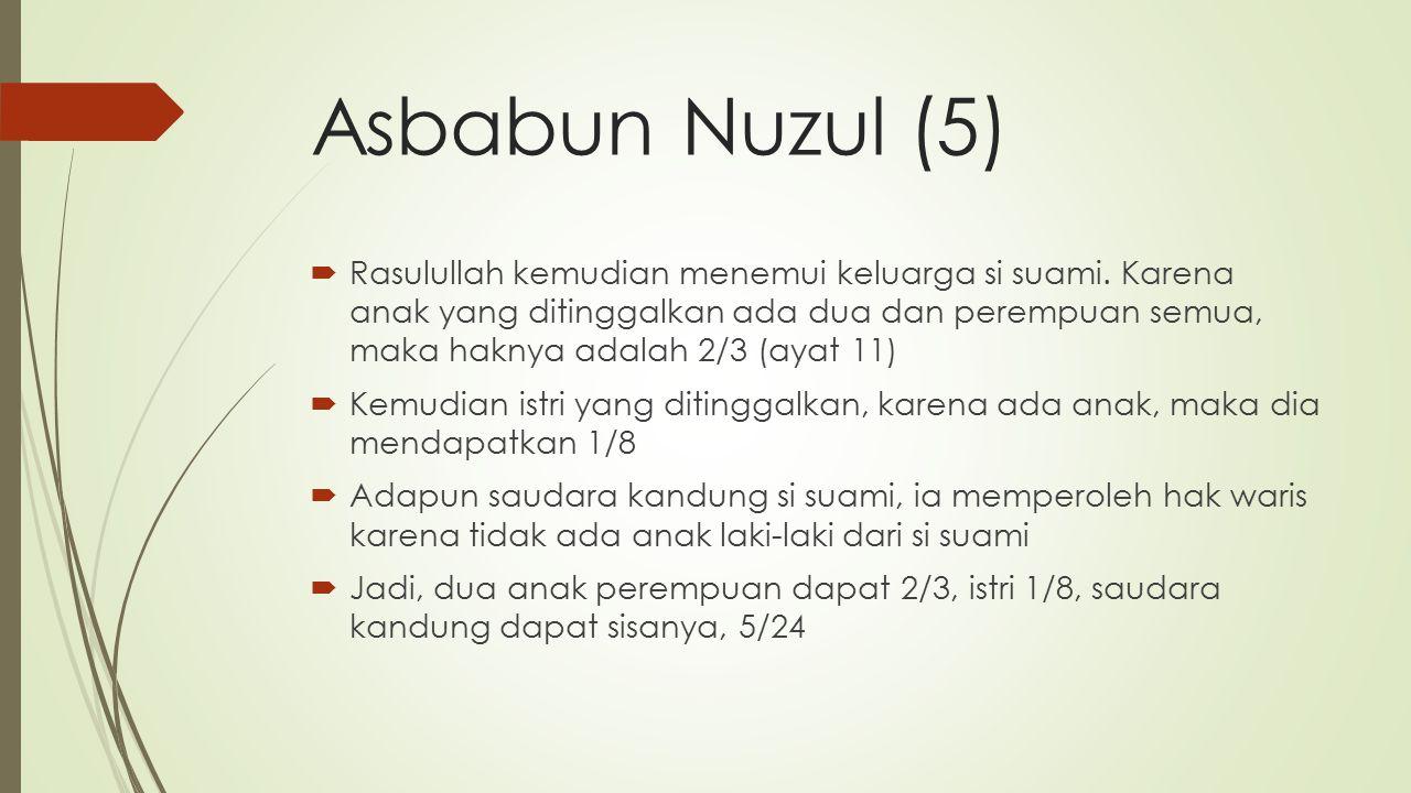 Asbabun Nuzul (5)