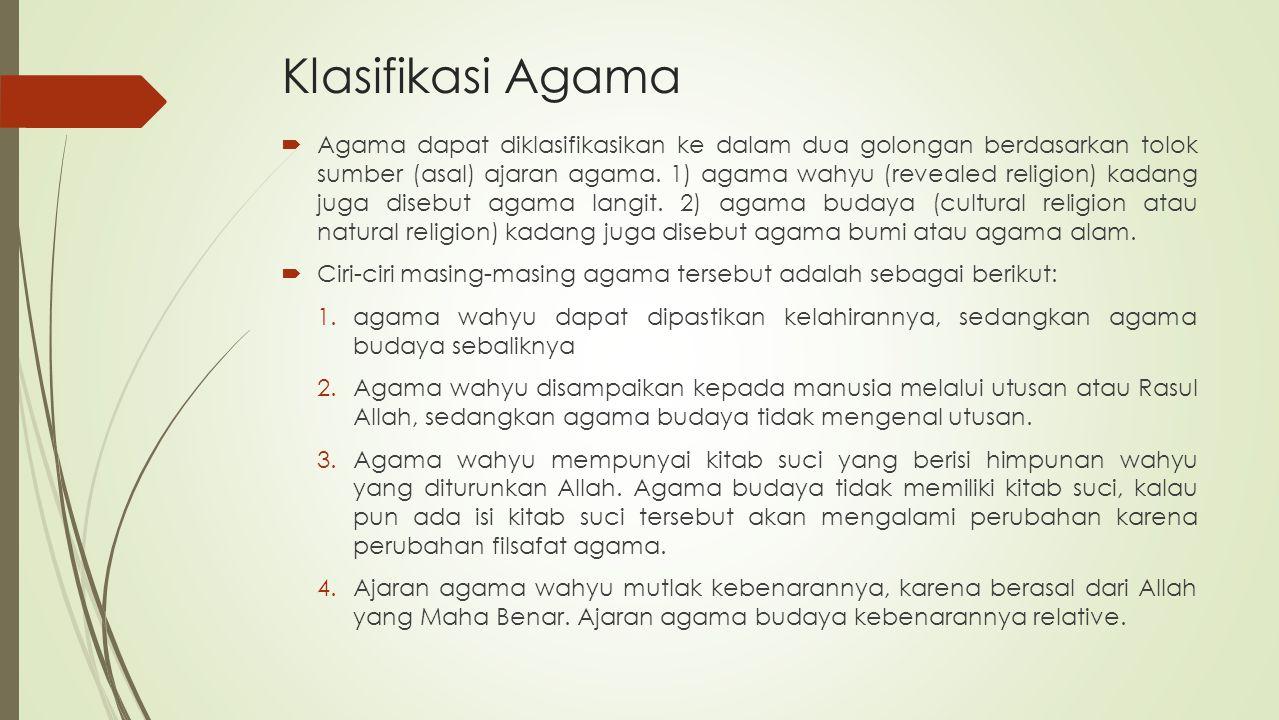 Klasifikasi Agama