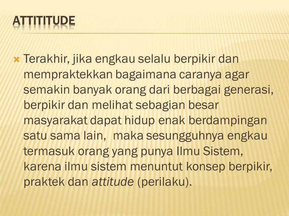 Attititude