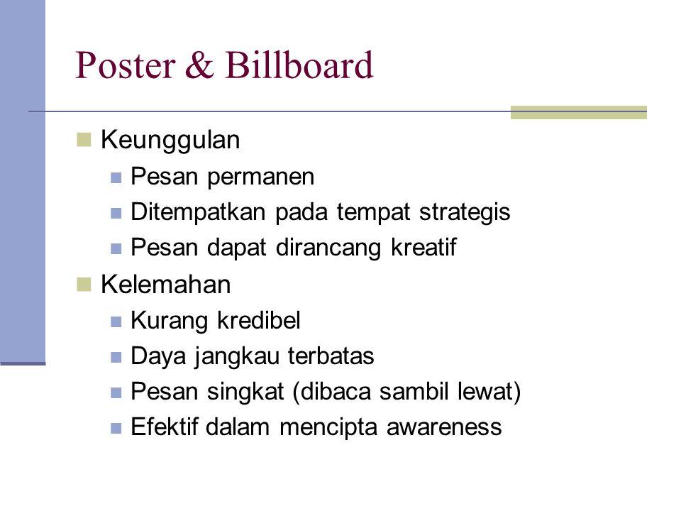 Poster & Billboard Keunggulan Kelemahan Pesan permanen