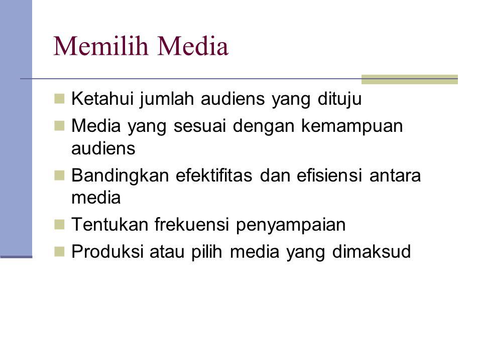 Memilih Media Ketahui jumlah audiens yang dituju