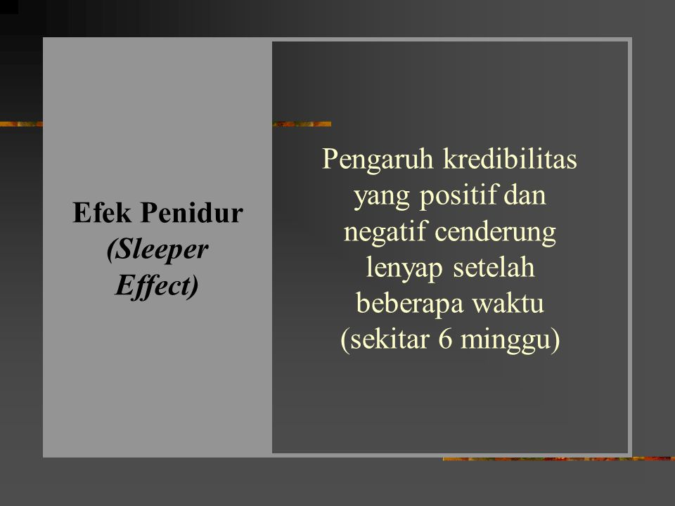 Efek Penidur (Sleeper Effect)