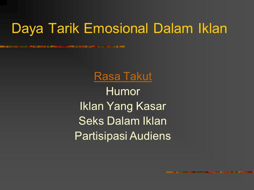 Daya Tarik Emosional Dalam Iklan