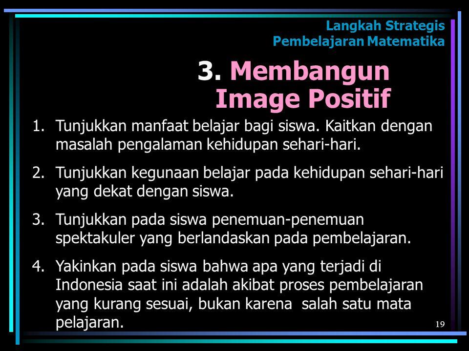 3. Membangun Image Positif