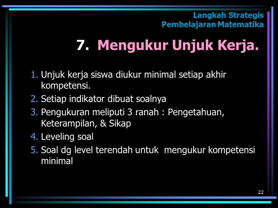 Langkah Strategis Pembelajaran Matematika