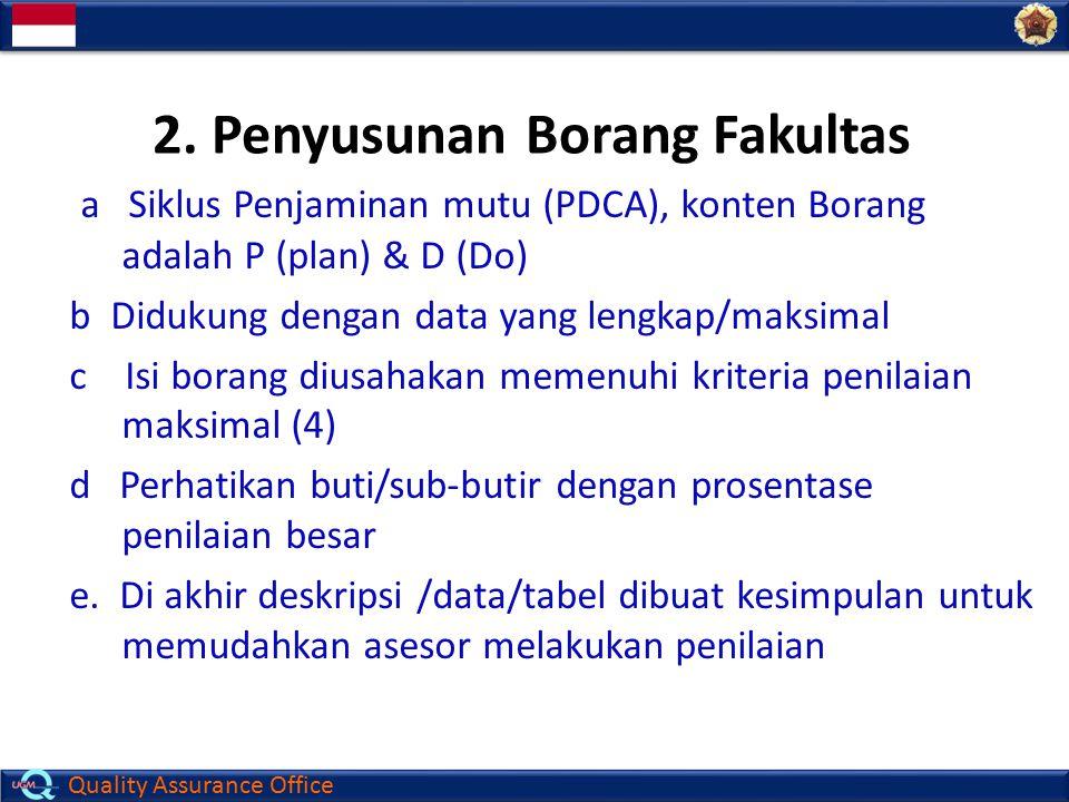 2. Penyusunan Borang Fakultas