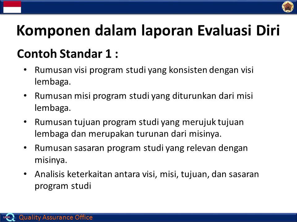 Komponen dalam laporan Evaluasi Diri