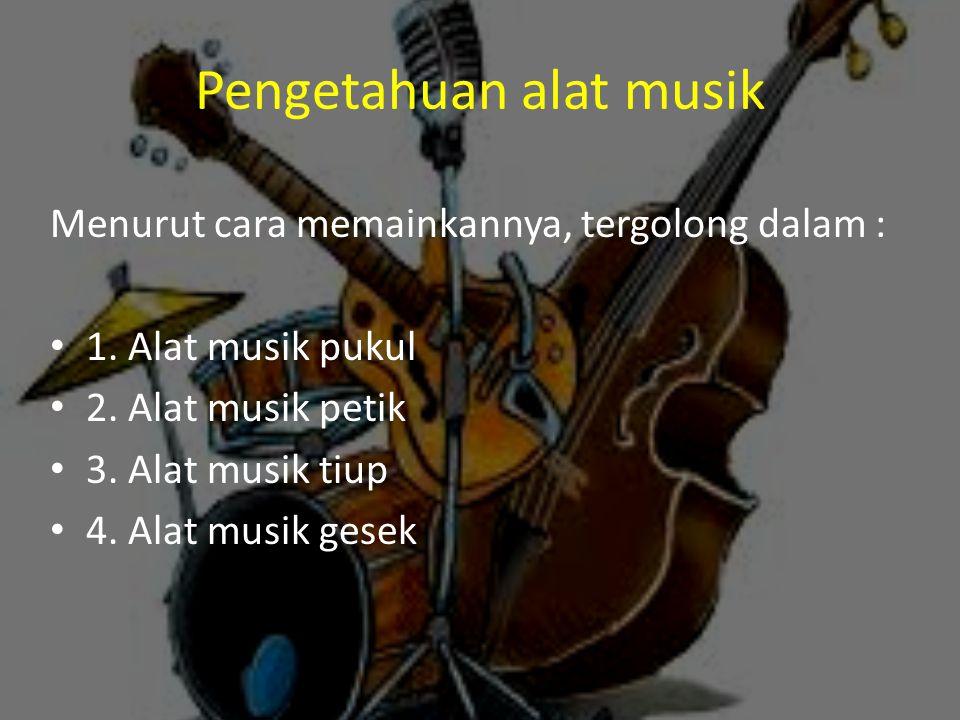 Pengetahuan alat musik