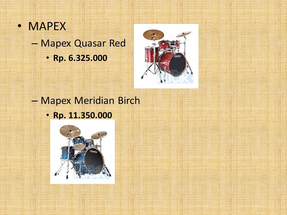 MAPEX Mapex Quasar Red Mapex Meridian Birch Rp. 6.325.000