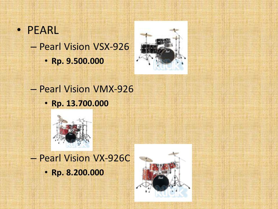 PEARL Pearl Vision VSX-926 Pearl Vision VMX-926 Pearl Vision VX-926C