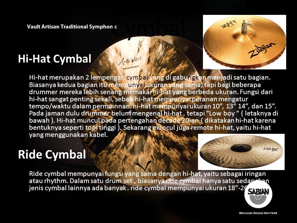 Cymbal Ride Cymbal Hi-Hat Cymbal