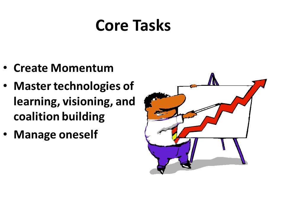 Core Tasks Create Momentum