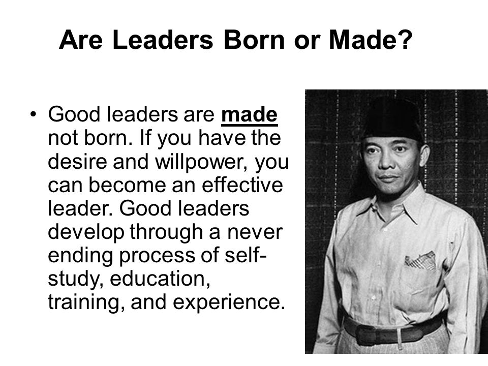 Are Leaders Born or Made