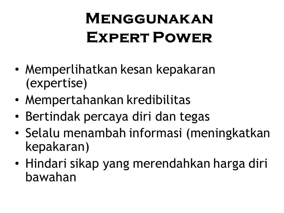 Menggunakan Expert Power