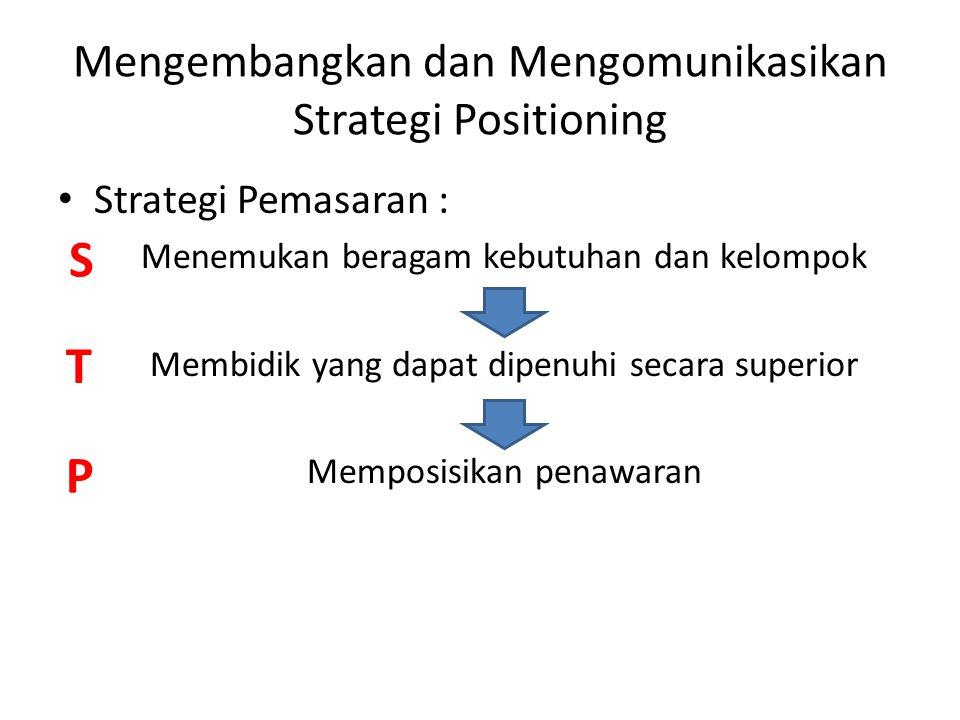 Mengembangkan dan Mengomunikasikan Strategi Positioning