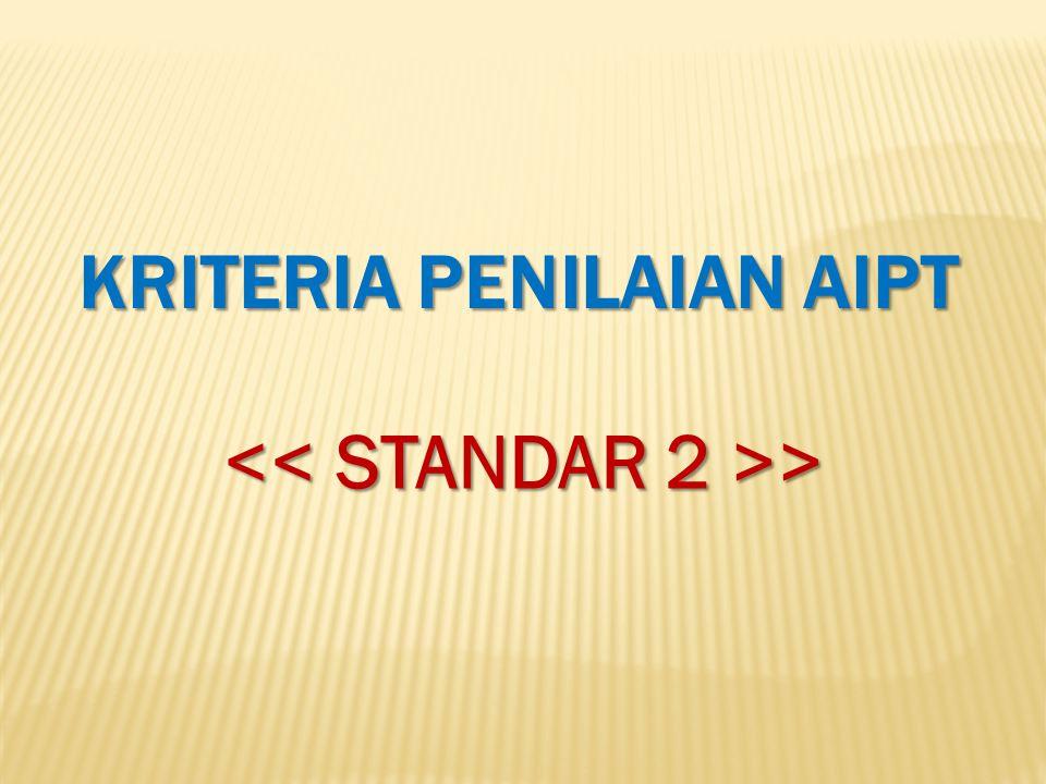 KRITERIA PENILAIAN AIPT << STANDAR 2 >>