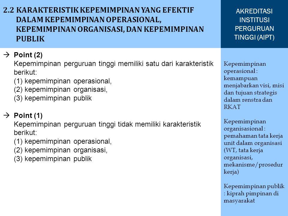 AKREDITASI INSTITUSI PERGURUAN TINGGI (AIPT)