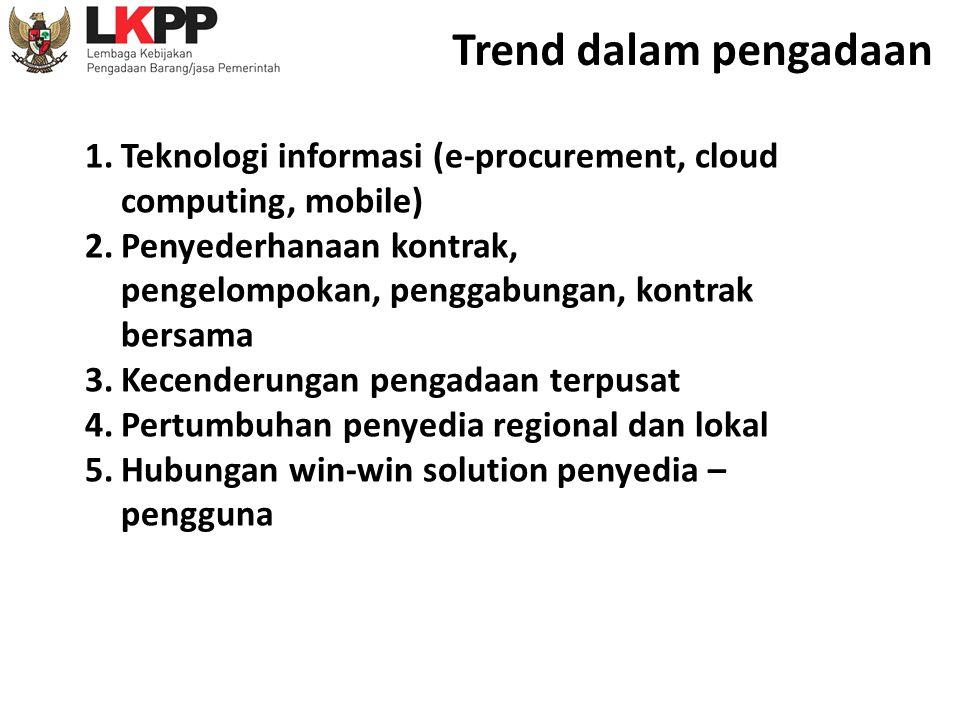 Trend dalam pengadaan Teknologi informasi (e-procurement, cloud computing, mobile)